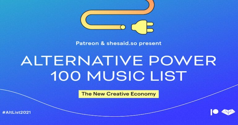 Patreon partners with shesaid.so for the Alternative Power 100 Music List 2021   Brands